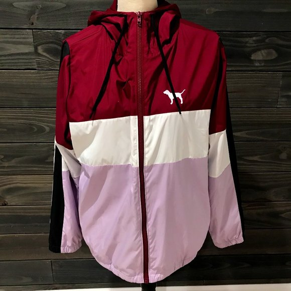 PINK Zip Up Jacket Multi Colored XS